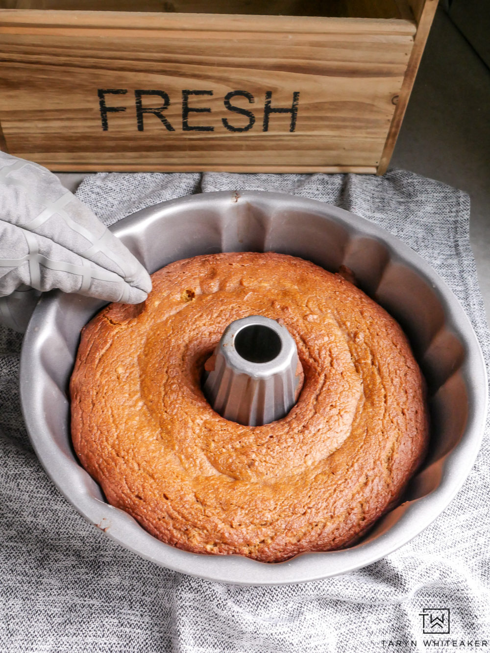 Gluten Free Pumpkin Bread made in bundt cake pan