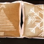 DIY Holiday Burlap Pillows