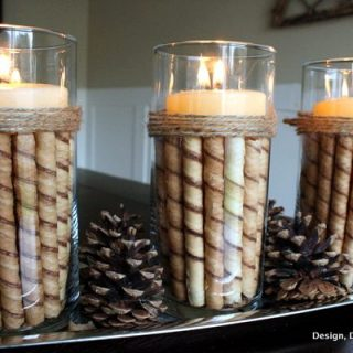 Rolled Chocolate Wafer Candle Display