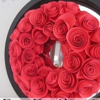 Day 11: Paper Rose Wreath with House of Hepworths