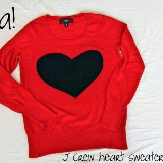 J Crew Heart Sweater Knock-Off