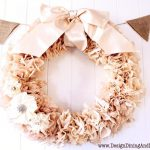 Tea Stained Coffee Filter Wreath