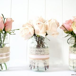 Make Vases and Votive Candles from Recycled Jars
