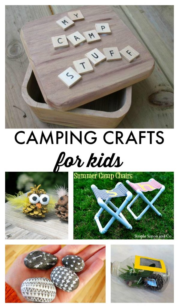 Camping Crafts for Kids! Tons of great ideas for easy crafts to do on your next camping trip!