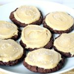 Chocolate Cookies with Salted Peanut Butter Frosting