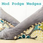 How To Makeover A Pair of Shoes With Mod Podge and Fabric
