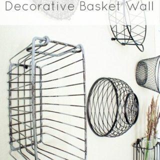 Decorative Basket Wall Reveal