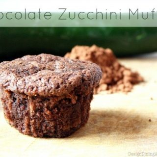 Chocolate Zucchini Muffins, gluten-free, egg-free
