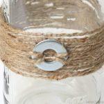 Mason Jars Adorned with Jute and Washers