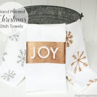 Hand Painted Christmas Dish Towels