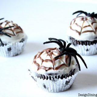 Chocolate Spider web Cupcakes