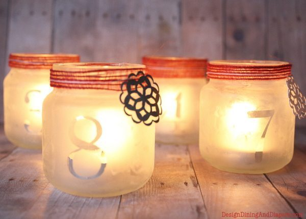 craft ideas for baby food jars luminary advent calendar whiteaker 7554