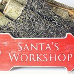Distressed Santa's Workshop Sign