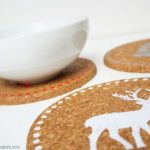 Holiday Cork Trivets with 3 Different Uses