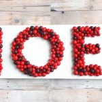 3D NOEL Sign Made From Scrap Wood and Faux Cranberries