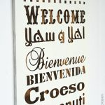 How To Make A Multilingual Wood Welcome Sign