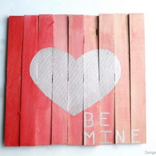 Mini Pallet Valentine's Day Art