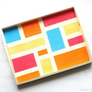 Color Blocked Tray for Spring