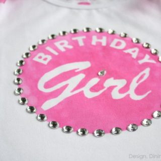Custom Birthday Girl Shirt Using Ink Effects