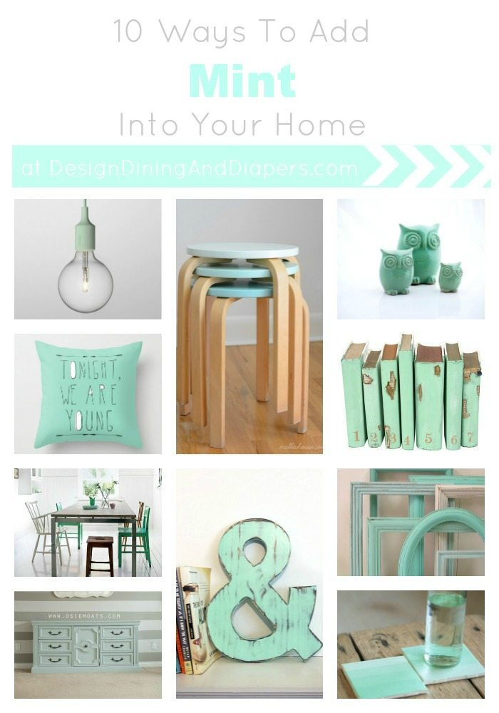 10 Ways To Add Mint Into Your Home Taryn Whiteaker