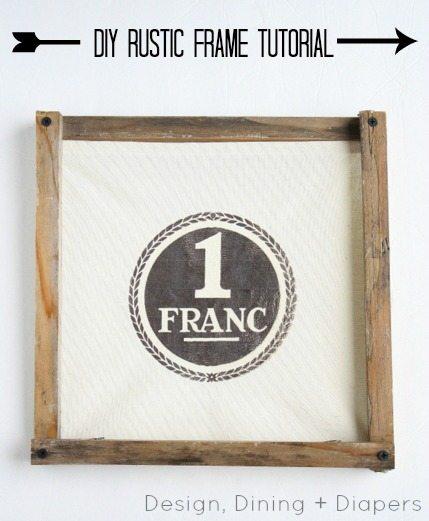 diy rustic wood frame tutorial by designdininganddiaperscom - Diy Rustic Picture Frame
