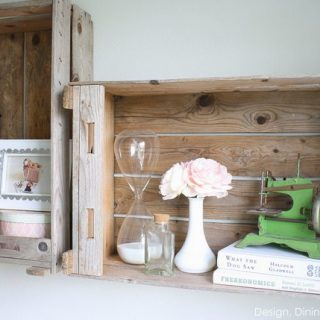 Turning Old Crates Into Shelves