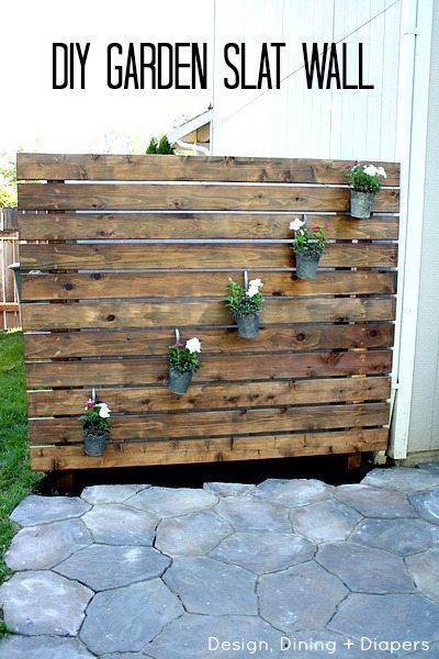 Diy Garden Slat Wall Taryn Whiteaker
