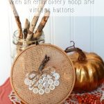 Pumpkin Embroidery Hoop Art With Making Home Base
