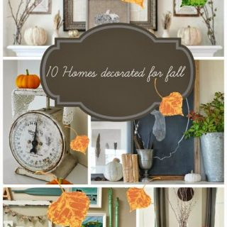 10 Homes Decorated For Fall (Link Party Features)