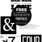 FREE Black and White Printables
