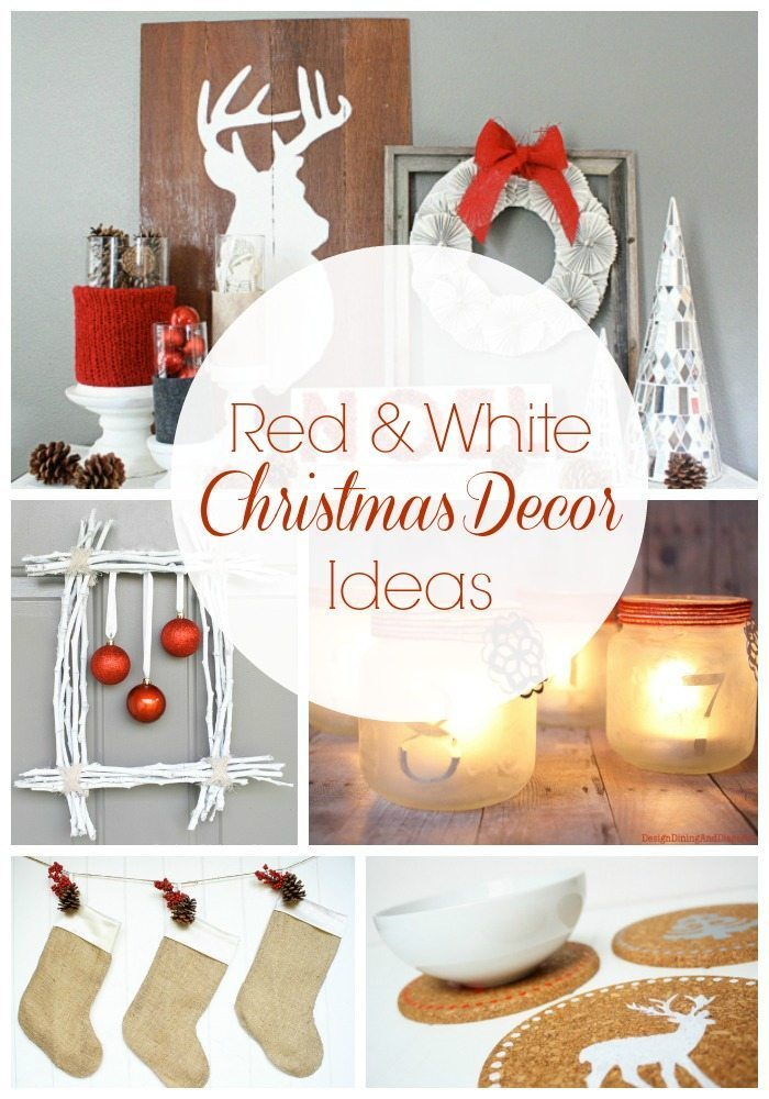 red and white christmas decorations via tarynatddd