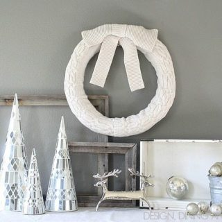 Cream Sweater Wreath