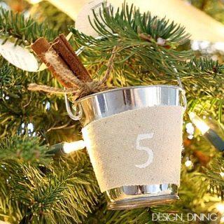 Personalized Mini Bucket Pail Ornaments