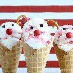 Ice Cream Cone Santa & Reindeer