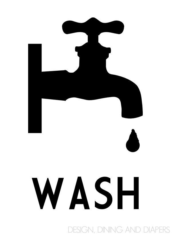 free bathroom printable wall art -Wash Graphic_Black