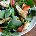 Pistachio Chicken Spinach Salad
