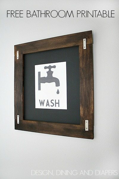 Free Bathroom Printable Wall Art