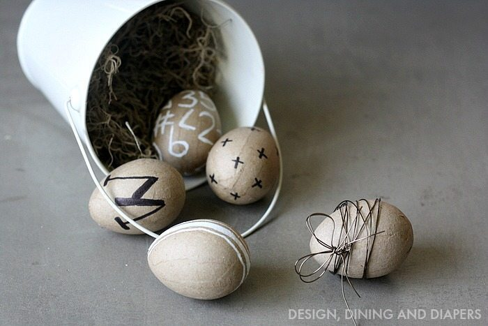 Easy Modern Easter Eggs