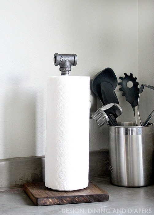 Diy Paper Towel Holder Taryn Whiteaker
