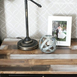 Faux Reclaimed Wood Finish Using ScotchBlue™ Painter's Tape!