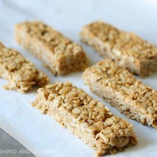No Bake Peanut Butter Oatmeal Cereal Bars