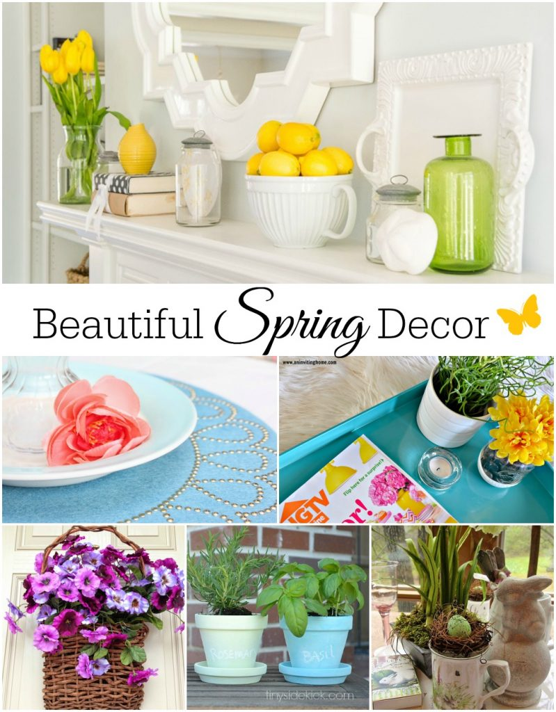 Beautiful Spring Decor Ideas (Link Party Features) - Taryn Whiteaker