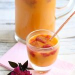 Healthy Mango Raspberry Punch with 7 Up TEN