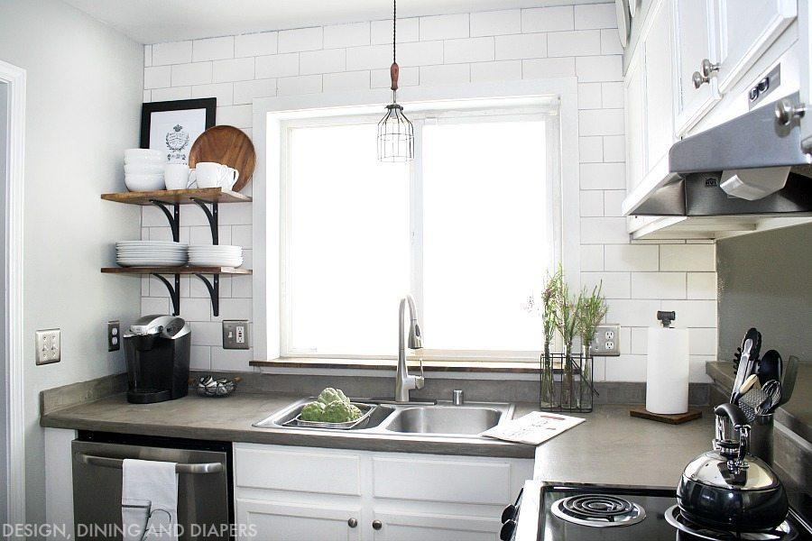 Kitchen Decor Cheap Kitchen Remodeling: Modern Farmhouse Small Kitchen Remodel