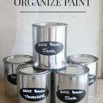 Organizing Paint Cans