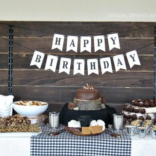 Modern Camping Themed Birthday Party