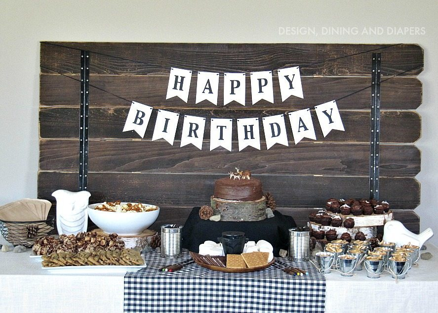 Modern Camping Themed Birthday Party By Designdininganddiapers