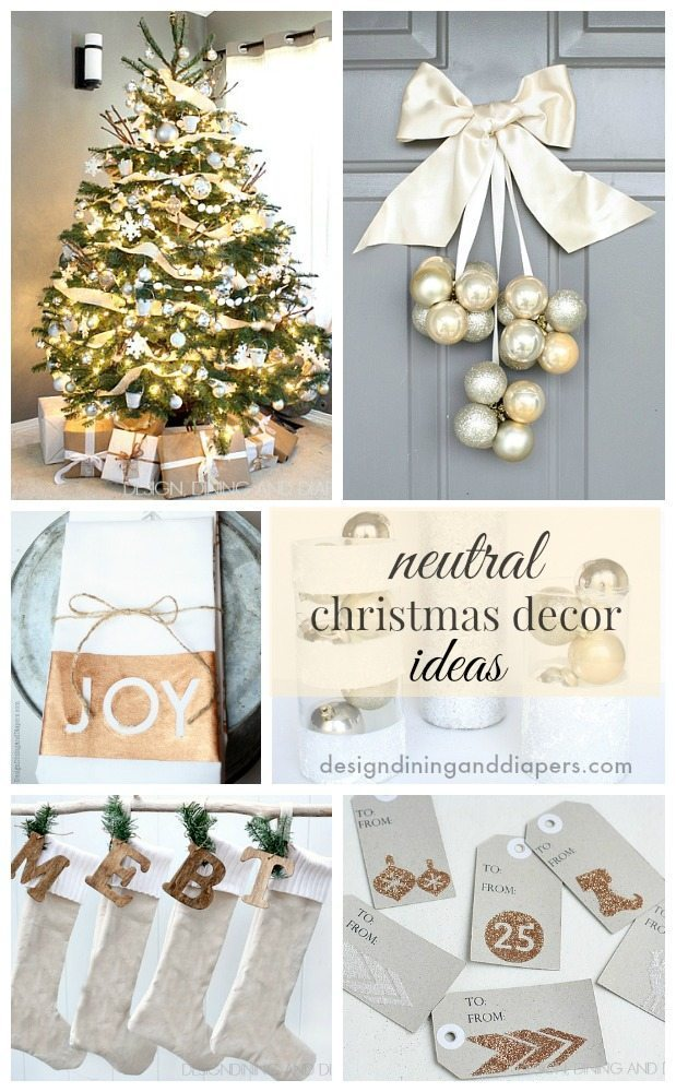 neutral christmas decor ideas taryn whiteaker - Neutral Christmas Decor