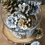 Quick Holiday Decor: Spray Painted Pine Cones