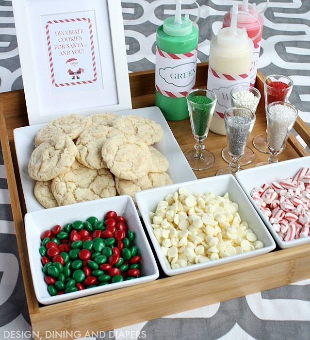 christmas cookie decorating station for kids or adults great party activity - Christmas Cookie Decorations